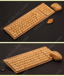 Беспроводная клавиатура и мышь из дерева: купить, описание, фото, цена