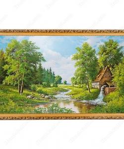 Картина с каменной крошкой