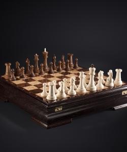 Шахматы Стаунтон Империя из бивня мамонта (изготовление на заказ)