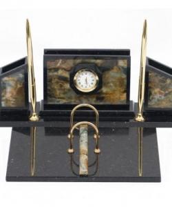 Письменный набор  Стенка  офиокальцит коричневый 350х250х140 мм 5000 гр.