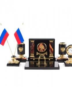 Настольный набор  Россия  яшма
