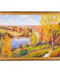 Картина  Осень.Глубинка.  багет №7 (50х70 см) ПИ11
