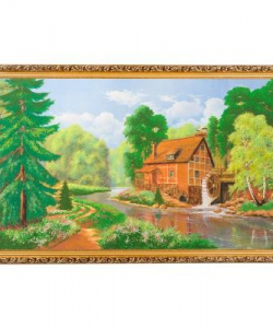 Картина  Лесной домик  багет №10 (60х100 см) К206