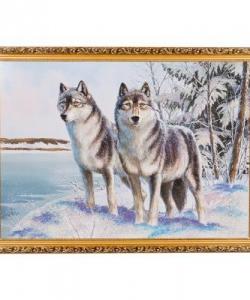 Картина  Волки  багет №7 (50х70 см) 32Т