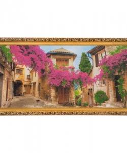 Картина  Цветущая улочка  багет №9 (50х100 см) А68