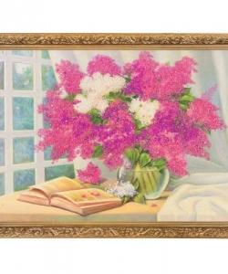 Картина  Лето с книгой  багет гипс №4 (30х40 см) К830