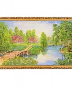 Картина  Дома в глуши  багет №10 (60х100 см) К821
