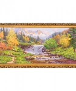 Картина  Горный ручей  багет №6,5 (33х70 см) ПИ22