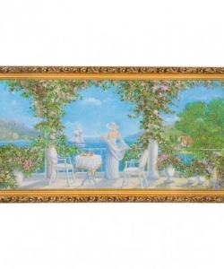 Картина  Морской пейзаж  багет №6,5 (33х70 см) К818