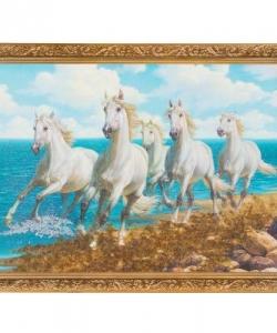 Картина  Кони  багет гипс №4 (30х40 см) К917