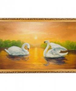 Картина  Прогулка на закате  багет №10 (60х100 см) К130
