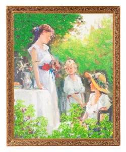 Картина  Завтрак в парке  багет №5 (40х50 см) 7280