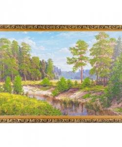Картина  Лесная речка  багет №6 (40х60 см) БС12