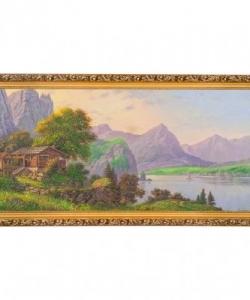 Картина  Уютный уголок  багет №6,5 (33х70 см) ПИ24