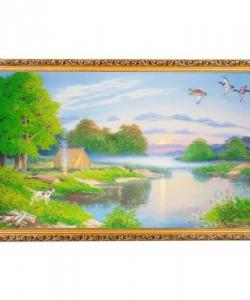 Картина  Кемпинг  багет №10 (60х100 см) К826