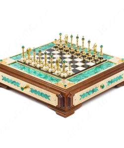 Шахматы Дворцовые из малахита