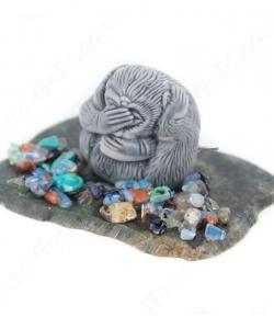 Сувенир статуэтка Обезьянка из змеевика к Новому Году: купить, описание, фото, цена