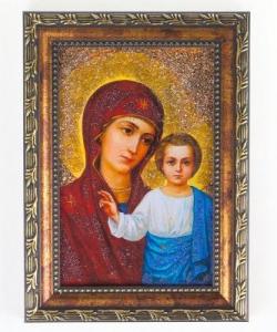 Икона Казанская рамка багет №1 (10х15см)