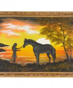 Картина  На закате  багет №4 (30х40 см)