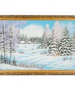 Картина  Зима  багет гипс №6 (40х60см)
