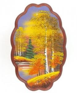 Панно овальное  Осень  №3 вертикальное (30х19 см) в ассортименте