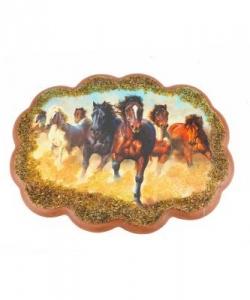 Панно  Табун лошадей  №2 (25х19 см)