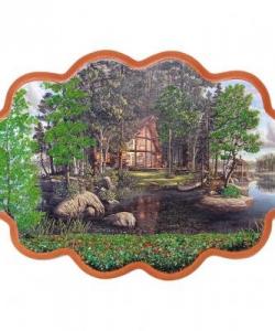 Панно  Дом на острове  №3 (34х26 см)