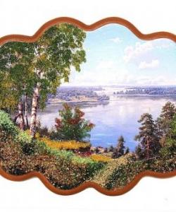 Панно  Волга  №3 (34х26 см)