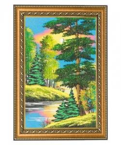 Картина  Летний пейзаж  багет №3 (20х30 см) верт. в ассортименте