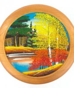 Тарелка декоративная  Осень  Д-25см