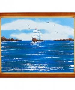 Картина  Морской пейзаж  багет дерево №4 (30х40 см)