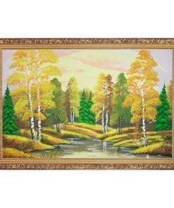 Картина  Осенний пейзаж  багет гипс №6 (40х60 см) гориз. в ассортименте