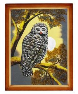 Картина  Сова  багет дерево №4 (30х40 см)