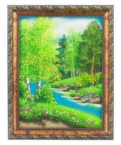 Картина  Летний пейзаж  рамка багет №2 (15х20 см) верт. в ассортименте