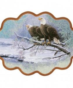 Панно  Пара орланов  №3 (34х26 см)
