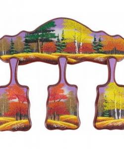 Кухонный набор  Осень  №1 490х380х15 мм 720 гр. рисунки в ассортименте