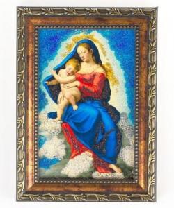 Икона Дева Мария рамка багет №1 (10х15см)