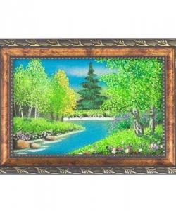 Картина  Летний пейзаж  рамка багет №1 (10х15 см) гориз. в ассортименте