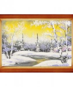 Картина  Зимний вечер  багет дерево №3 (20х30 см) гориз. в ассортименте