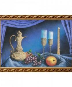 Натюрморт  Кувшин с бокалами  багет №6 (40х60 см)
