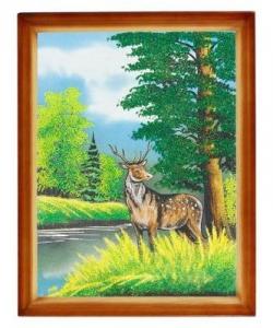 Картина  Олень  багет дерево №4 (30х40 см)
