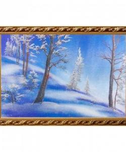 Картина  Зимний пейзаж  багет №6 (40х60 см)