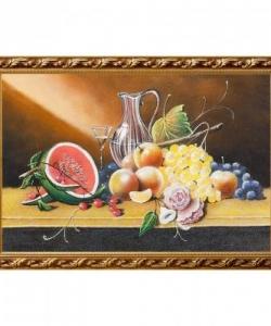 Натюрморт  Фрукты с арбузом  багет гипс №6 (40х60 см)