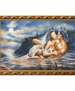 Картина  Он и она  багет №6 (40х60 см)