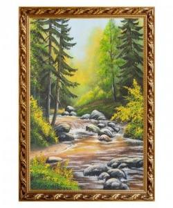 Картина  Горный ручей  багет гипс №6 (40х60 см)