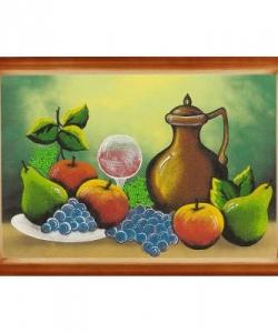 Картина  Натюрморт с фруктами  багет дерево №6 (40х60 см)