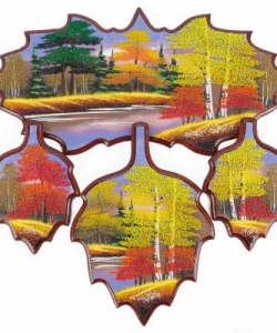 Кухонный набор  Осень  №1 440х430х15 мм 780 гр. рисунки в ассортименте