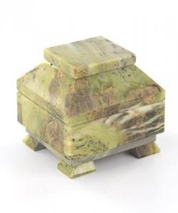 Ларец малый офиокальцит 100х90х90 мм 800 гр.