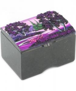 Шкатулка  Сундучок  змеевик рисунок  рассвет в ассортименте 100х65х65 мм 600гр.
