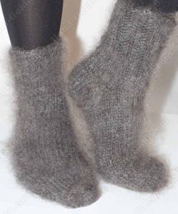 Пуховые носки Серые